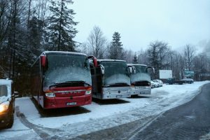 Meijsce parkowania autokaru Wisła